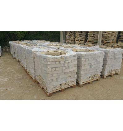 Mureuses tradition barettes en pierre naturelle du Chatillonnais de 06 à 09 cm de Hauteur